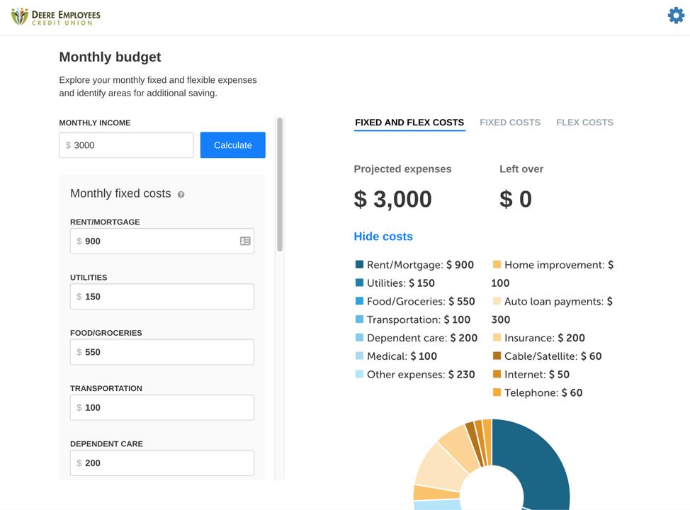 budget screen