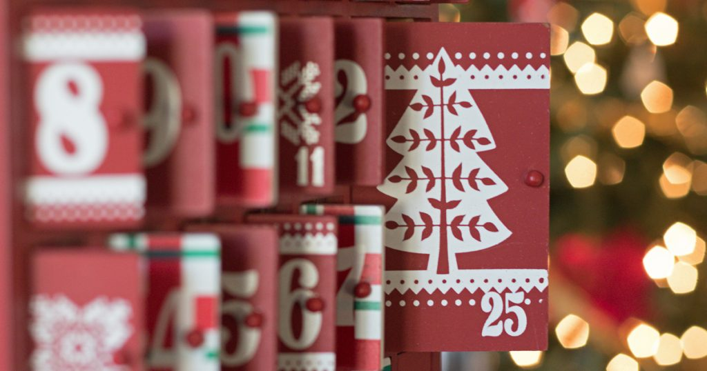 advent calendar close up