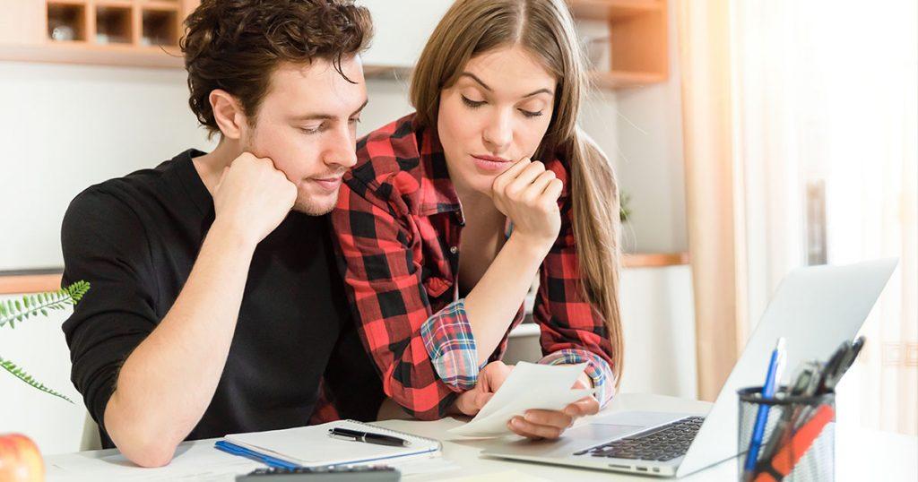 couple making a budget
