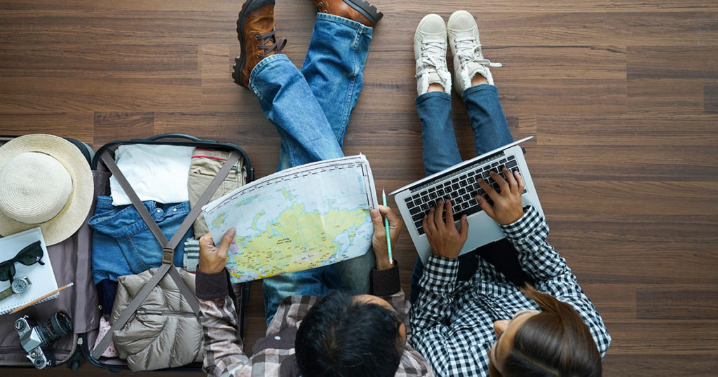 couple planning trip